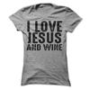 I Love Jesus And Wine T Shirt - awesomethreadz