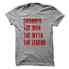 Grandpa The Man The Myth The Legend T Shirt - awesomethreadz