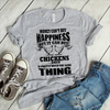 Money Can't Buy Happiness, But It Can Buy Chickens  [T-Shirt] awesomethreadz