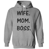 Wife. Mom. Boss. T Shirt - awesomethreadz