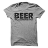Beer Because People Suck T Shirt - awesomethreadz