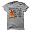 Camping Rule # 1 Don't Get Your Weenie Too Close To The Fire  [T-Shirt] awesomethreadz