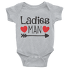 Ladies Man Onesie  [T-Shirt] awesomethreadz