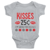 Kisses 25 Cents Onesie  [T-Shirt] awesomethreadz