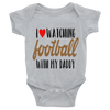 I Love Watching Football With My Daddy Onesie  [T-Shirt] awesomethreadz