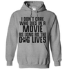 I Don't Care Who Dies In A Movie As Long As The Dog Lives T Shirt - awesomethreadz