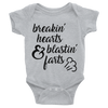 Breakin' Hearts And Blastin' Farts Onesie  [T-Shirt] awesomethreadz