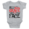 All Of God's Grace In One Tiny Face Onesie  [T-Shirt] awesomethreadz