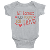 All Because Tow People Fell In Love Onesie  [T-Shirt] awesomethreadz