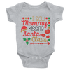 I Saw Mommy Kissing Santa Claus Onesie  [T-Shirt] awesomethreadz
