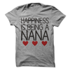 Happiness Is Being A Nana T Shirt - awesomethreadz