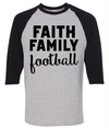 Faith Family Football  [T-Shirt] awesomethreadz
