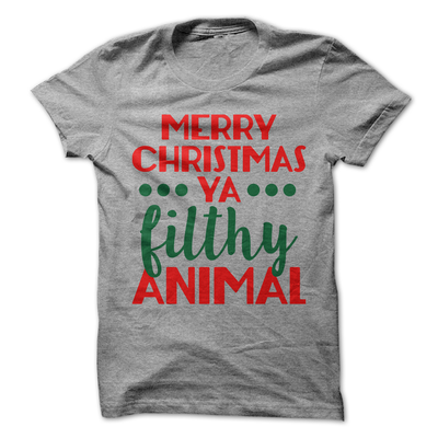Merry Christmas Ya Filthy Animal   awesomethreadz