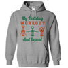 My Holiday Workout And Repeat Wine  [T-Shirt] awesomethreadz