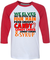 Four Main Food Groups Candy Candy Canes Candy Corn Syrup Christmas  [T-Shirt] awesomethreadz