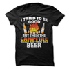 I Tried To Be Good But Then The Campfire Was Lit And There Was Beer  [T-Shirt] awesomethreadz