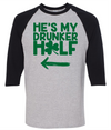 He's My Drunker Half  [T-Shirt] awesomethreadz
