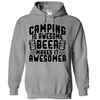 Camping Is Awesome Beer Makes It Awesomer  [T-Shirt] awesomethreadz