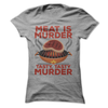 Meat Is Murder Tasty, Tasty Murder  [T-Shirt] awesomethreadz