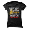 I Just Want To Drink Beer And Watch Fireworks  [T-Shirt] awesomethreadz