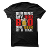 Building My Dad Bod One Beer At A Time  [T-Shirt] awesomethreadz