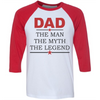 Dad The Man The Myth The Legend  [T-Shirt] awesomethreadz