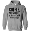 Coffee Scrubs Messy Bun Nurse Life #nurselife  [T-Shirt] awesomethreadz
