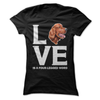 Irish Setter Love Is A Four-Legged Word  [T-Shirt] awesomethreadz