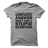 If You Don't Want A Sarcastic Answer Don't Ask Stupid Questions