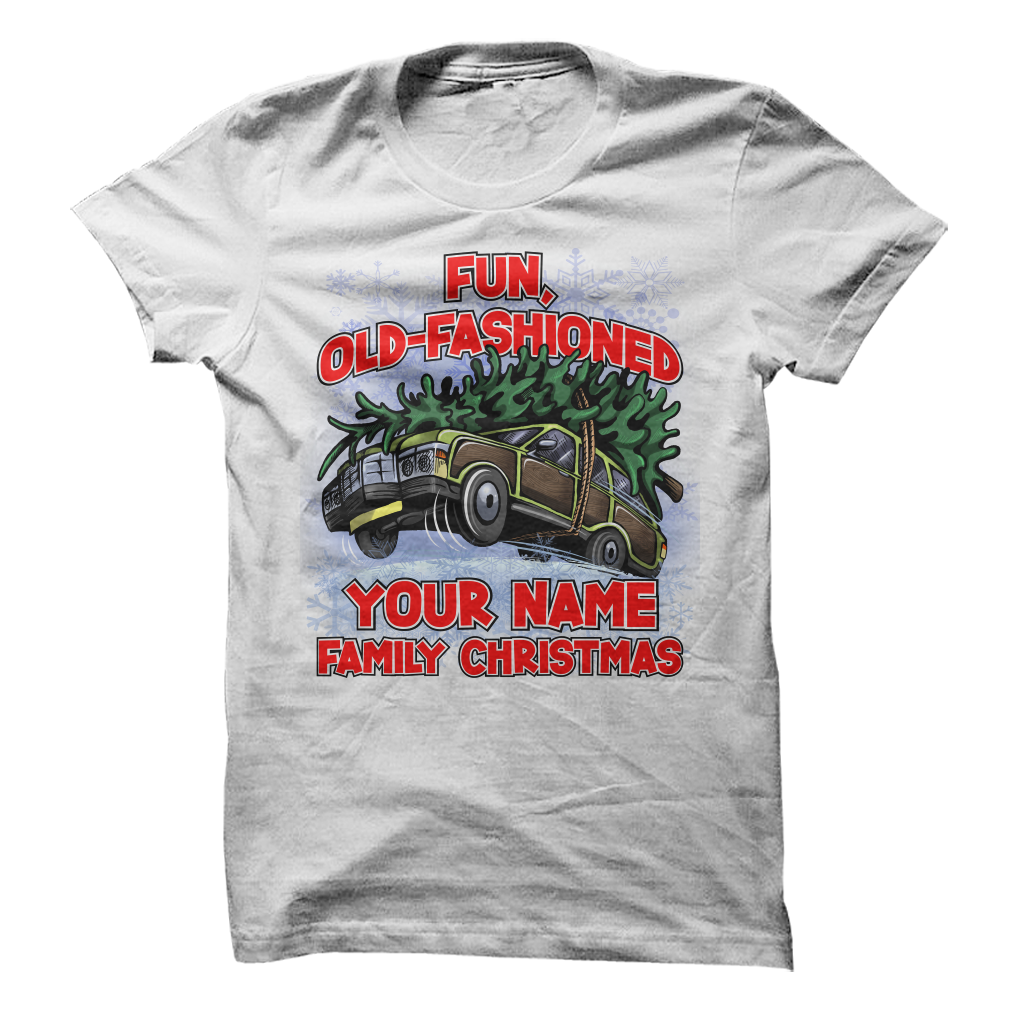 Custom Fun Old-Fashioned Family Christmas - awesomethreadz