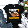 Turkey And Touchdowns  [T-Shirt] awesomethreadz