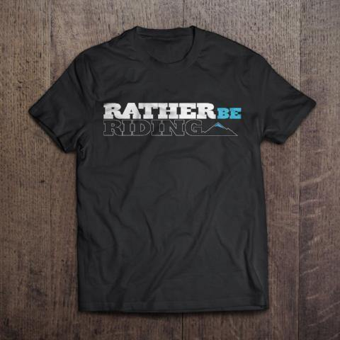 Tshirt with the ratherberiding logo printed on the front