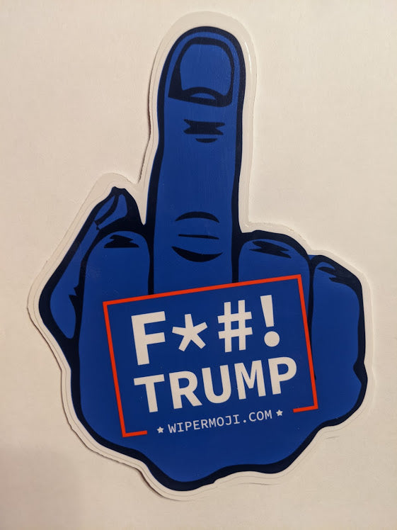 F*#! DONALD TRUMP MIDDLE FINGER FOR YOUR CARS BACK WINDSHIELD WIPER