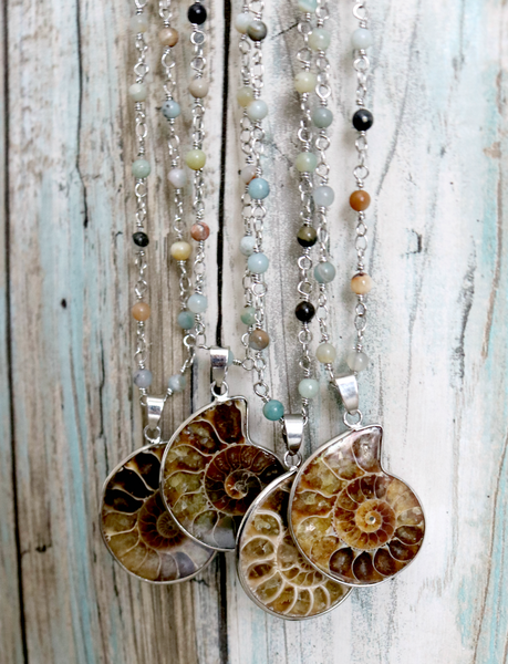 Nautilus Druzy Necklace