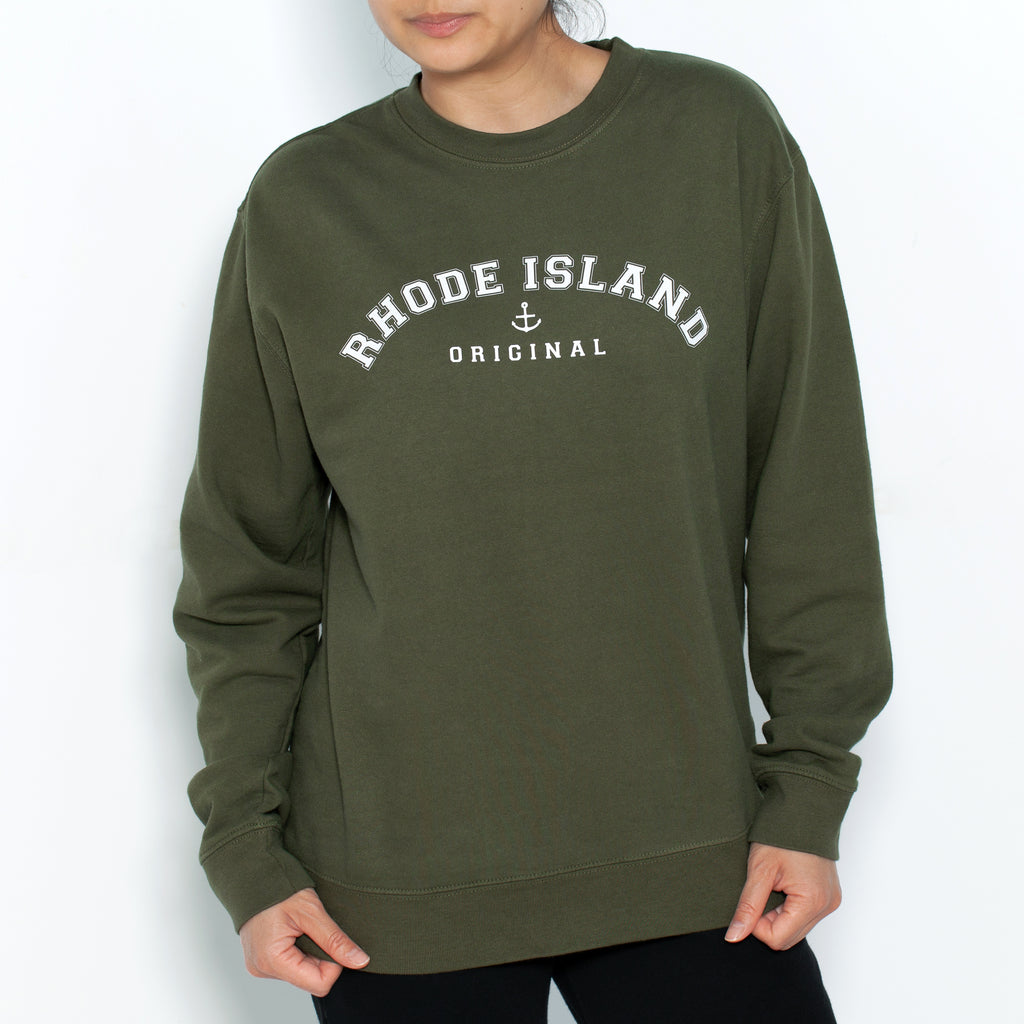 Dark Olive Campus Crewneck