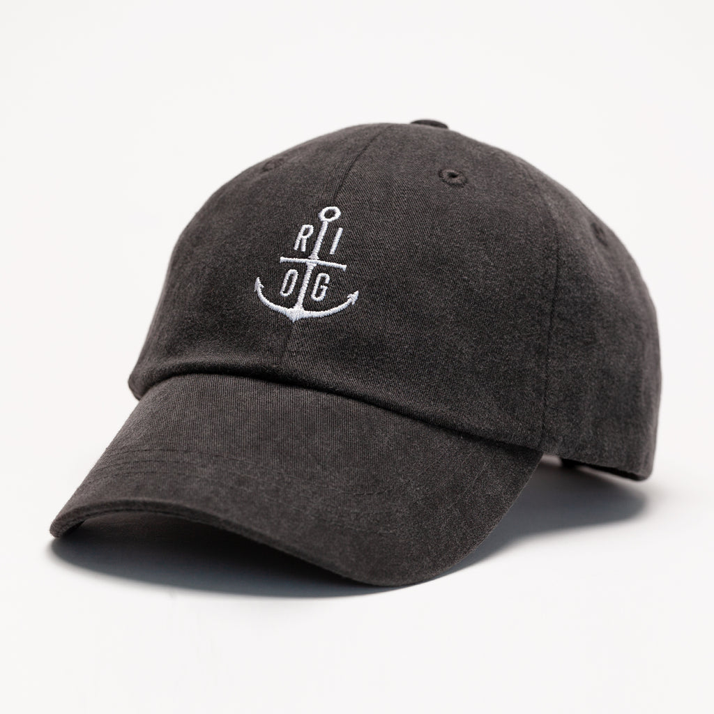 Pigment Dyed Anchor Dad Hat - Vintage Black
