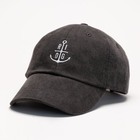 Black Canvas Cap- Gold Thread