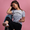 Women's Heather Gray/Black Creative Capital Tee