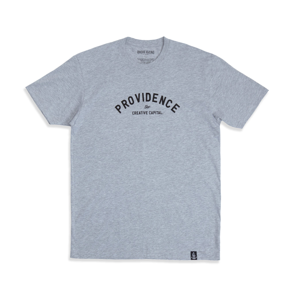 Men's Heather Gray/Black Creative Capital Tee