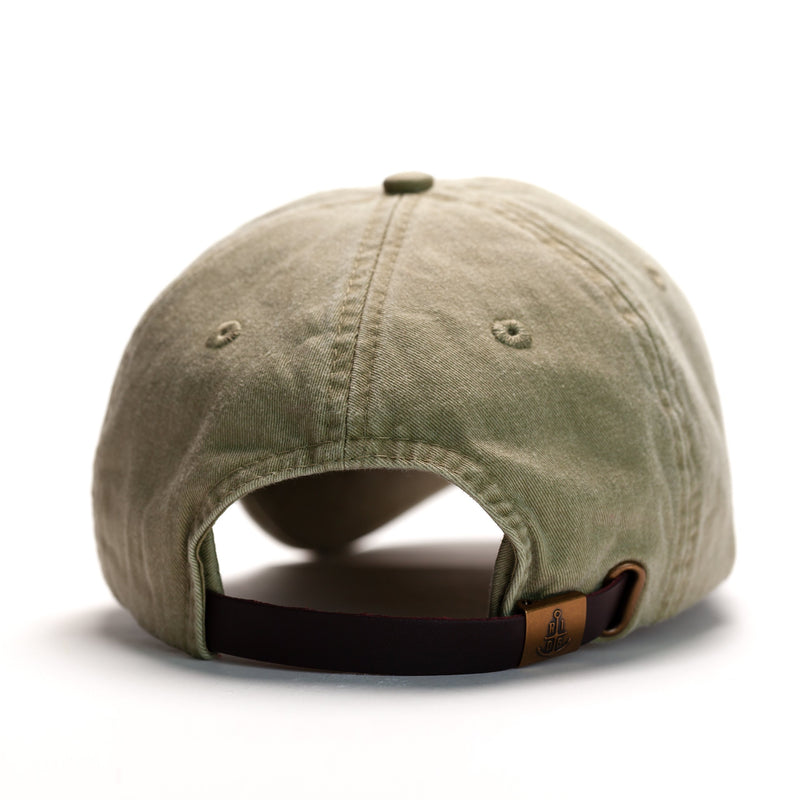 Pigment Dyed Anchor Dad Hat - Olive Khaki