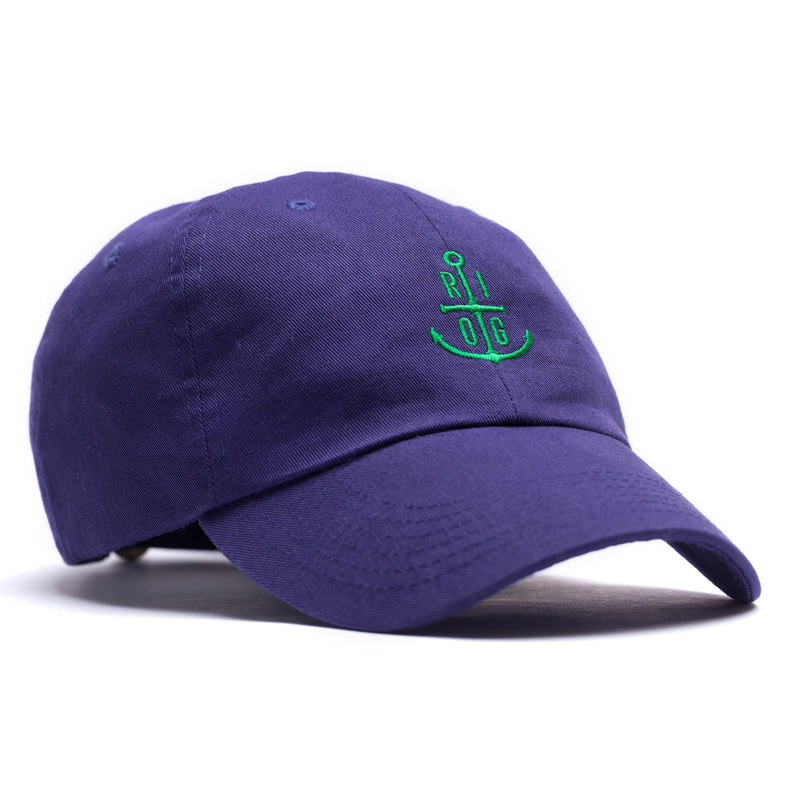 Green Anchor Dad Hat