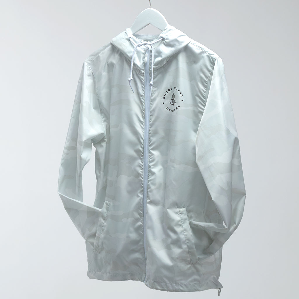 Lightweight Windbreaker - White Camo