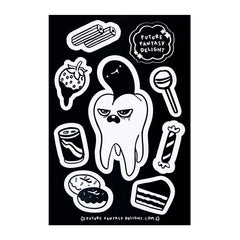 Spooky Tooth Sticker Sheet