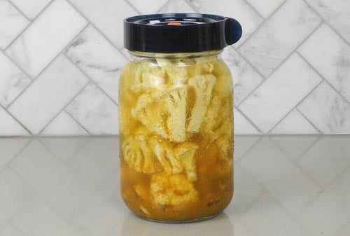 Curried Lacto-Fermented Cauliflower