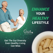 Happy Gut Pre + Probiotics – Win The Fight Against Bloating & Digestion Problems - 15 Carefully Picked Strains – 15 Billion CFU - 60 Doses per Bottle