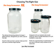 Easy Fermenter XL: Simplified Fermenting In 1 Gallon Jars! Make Sauerkraut, Kimchi, Pickles Or Any Fermented Probiotic Foods. 1 Lid, Weighting System, Extractor Pump & Printed Recipe Book