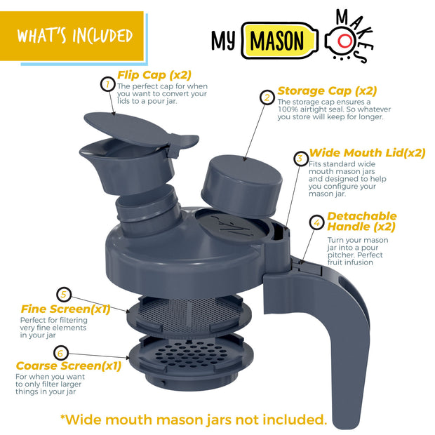 My Mason Makes... Multi-purpose Lids… Pour Pack