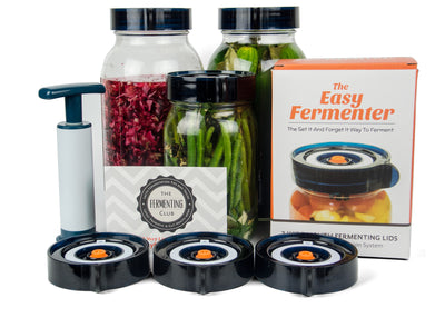 Wholesale - The Easy Fermenter Wide Mouth Fermenting Lids - 3 Pack + Pump