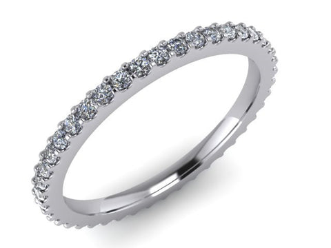 Eternity Stackable Rings, 14kt White Gold