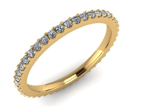 Eternity Stackable Rings, 14kt Yellow Gold